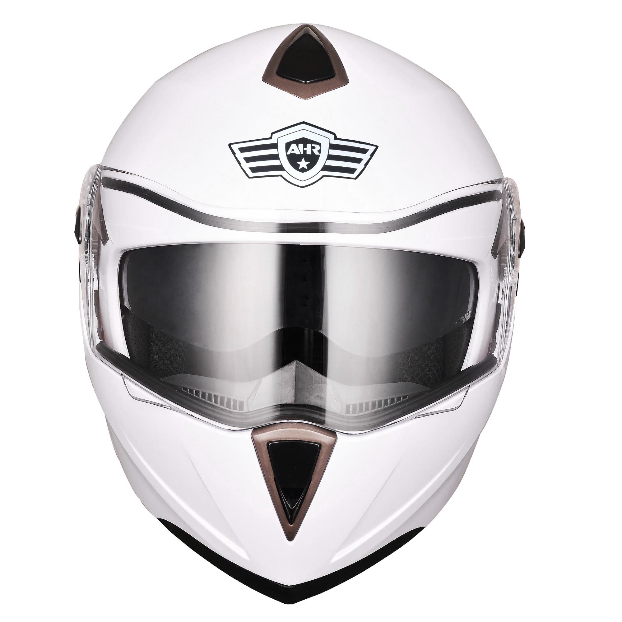 miniature 127 - DOT Flip up Modular Full Face Motorcycle Helmet Dual Visor Motocross Size Opt