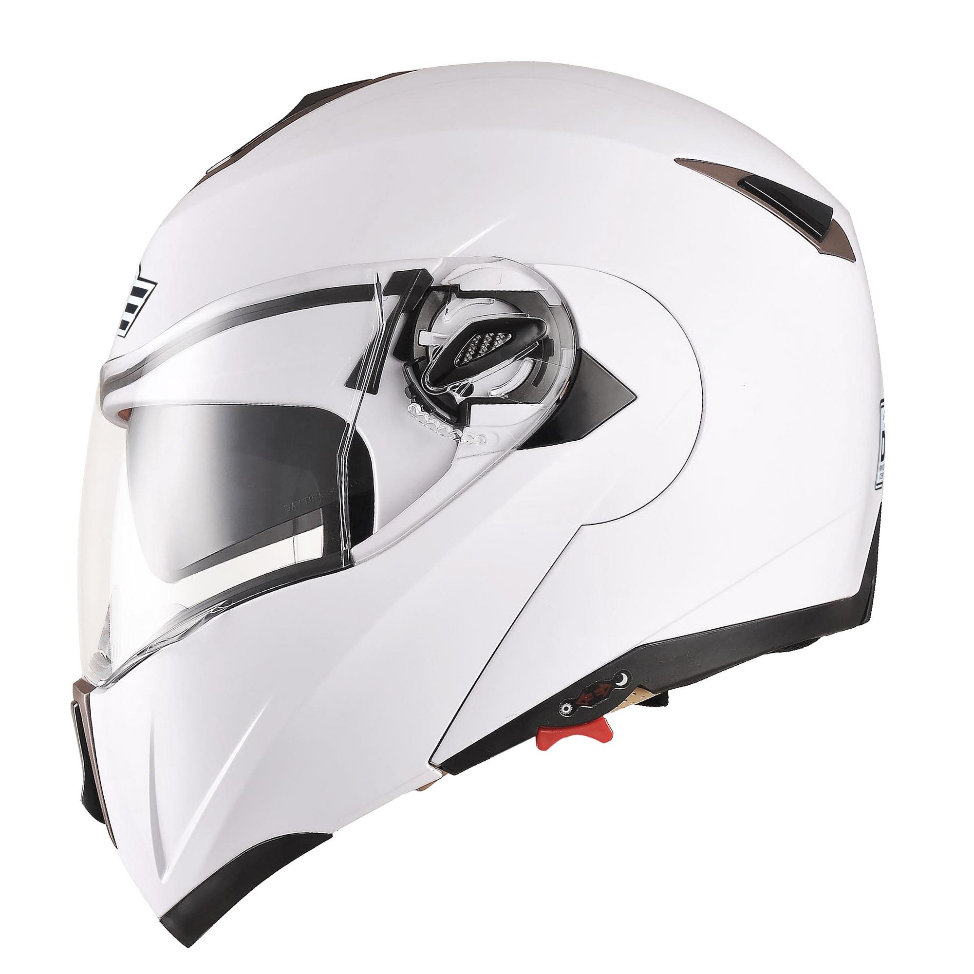miniature 129 - DOT Flip up Modular Full Face Motorcycle Helmet Dual Visor Motocross Size Opt