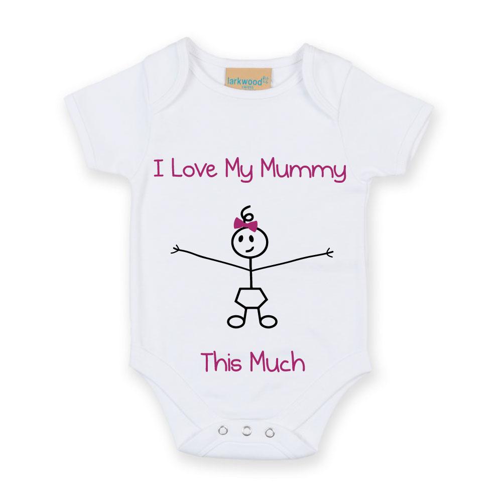 Belle I Love My Mummy Autant De Filles Bébé Blanc Croître Babygro Nouveau Bébé Cadeau Stick Comm-afficher Le Titre D'origine Le Prix Reste Stable