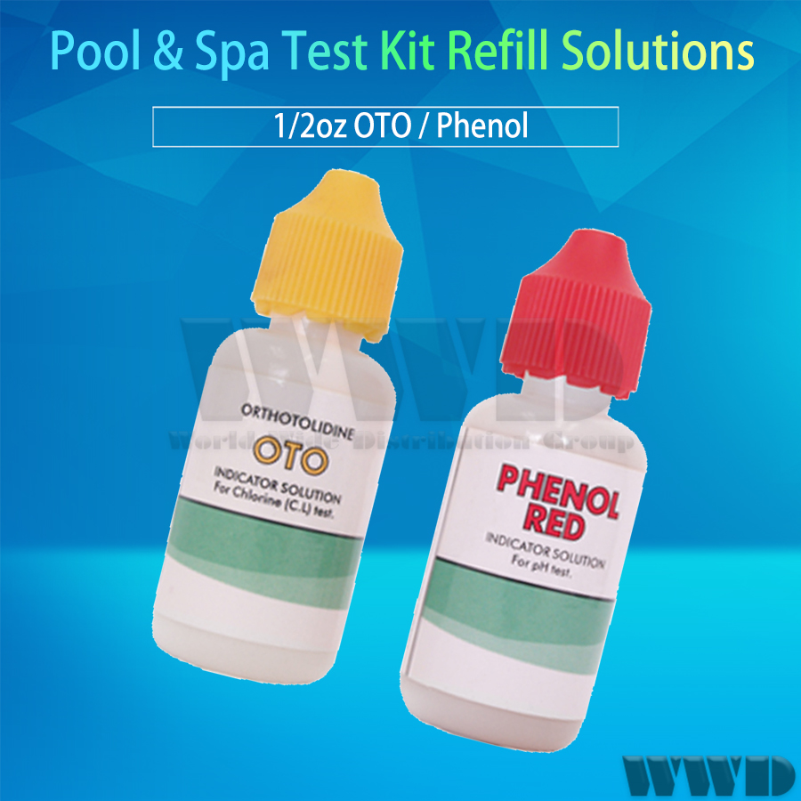 Chlorine and Bromine Pool /& Spa Test Kit Refill Solutions Test Water for pH