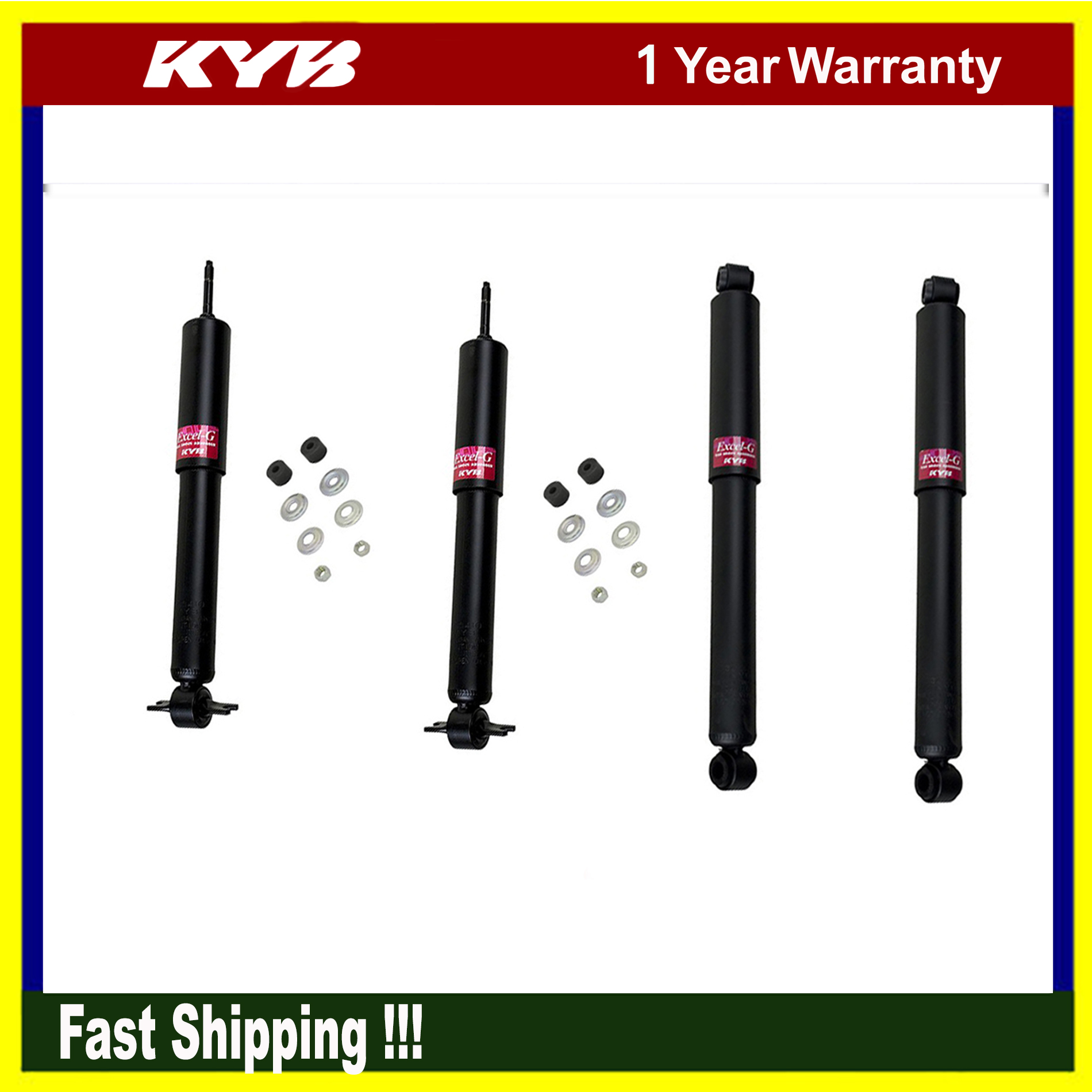 Shock Absorber-Gas-A-Just Rear KYB 554350 fits 05-17 Toyota Tacoma