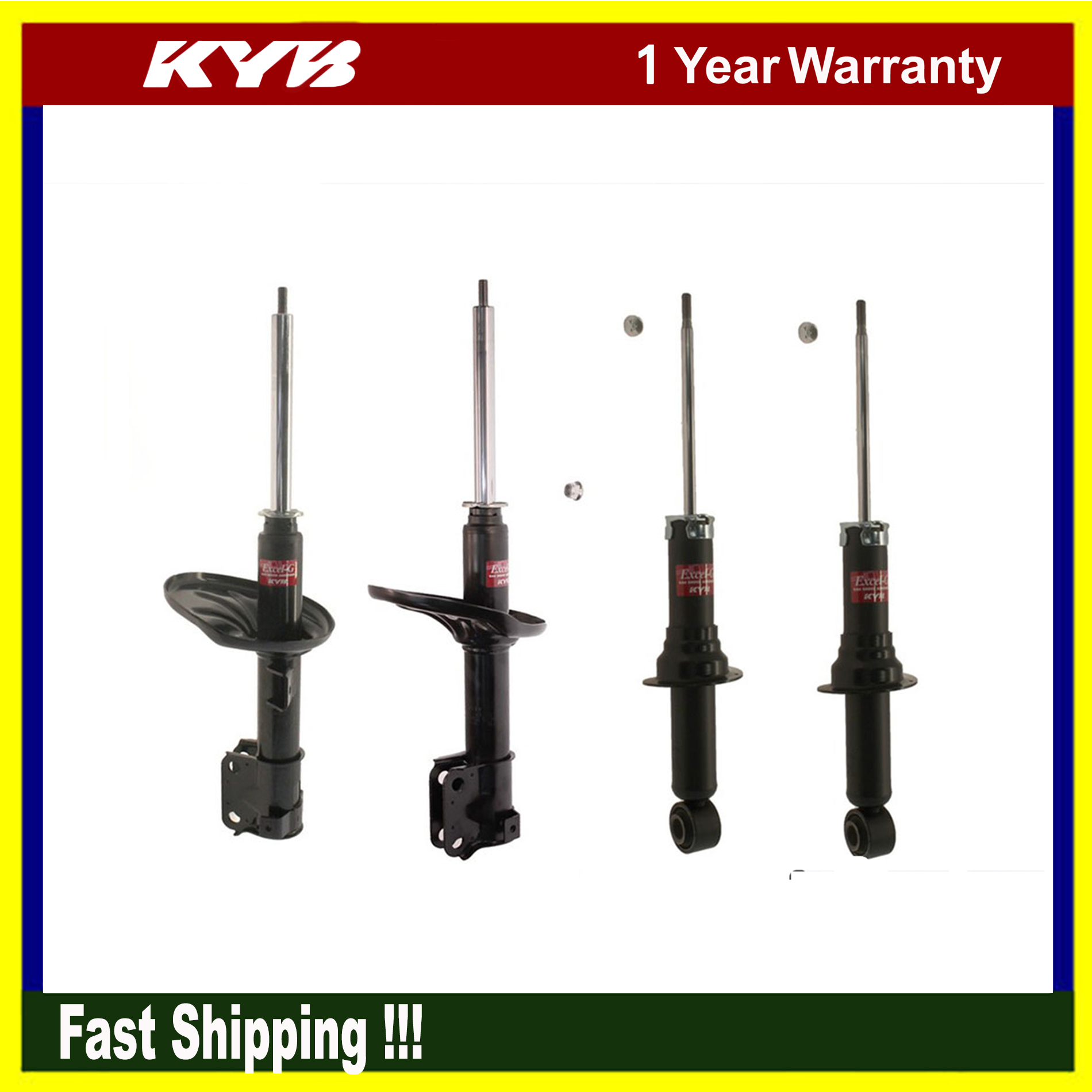 4pcs Kyb Suspension Shock Struts For 2004