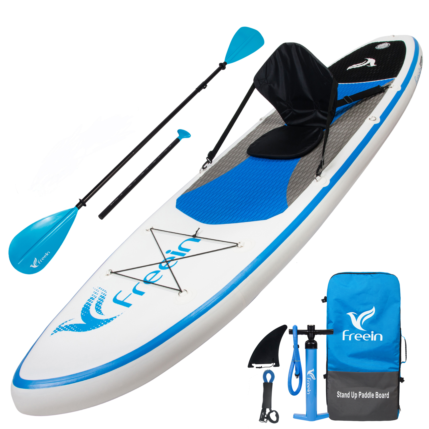 Details about Freein Stand Up Paddleboard Inflatable SUP W/10' Long With  Kayak Conversion Kit