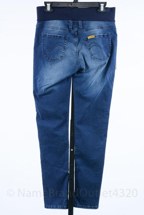 51249956d63dd Pietro Brunelli Maternity blue M 8 10 denim skinny jegging jean pant NEW  $125