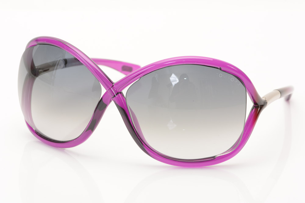f24f2437a84e Tom Ford Whitney 75B violet purple crisscross oversize frame sunglasses NEW   415