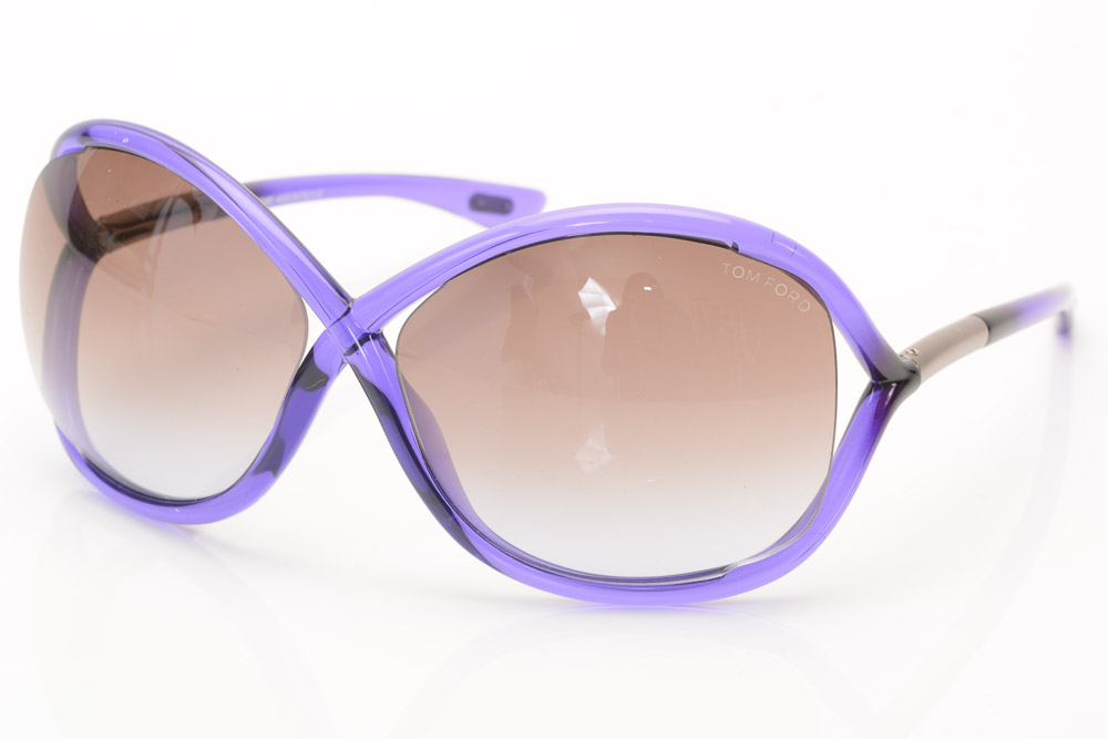 8998f15807 Details about Tom Ford Whitney 78Z lilac purple crisscross oversize frame  sunglasses NEW  415