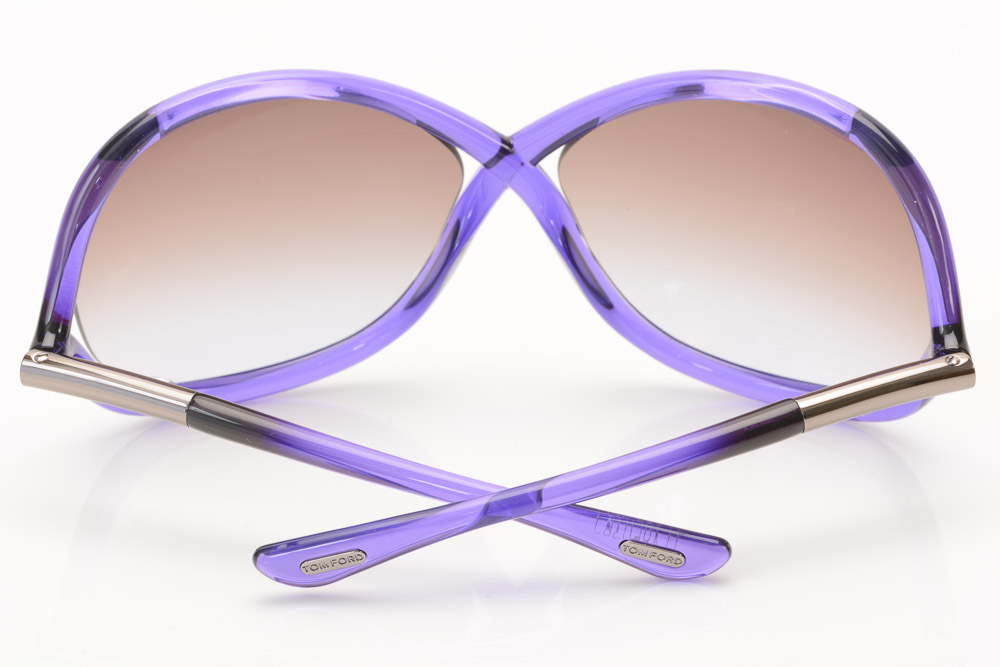 09c49d97bc15 Tom Ford Whitney 78Z lilac purple crisscross oversize frame sunglasses NEW   415