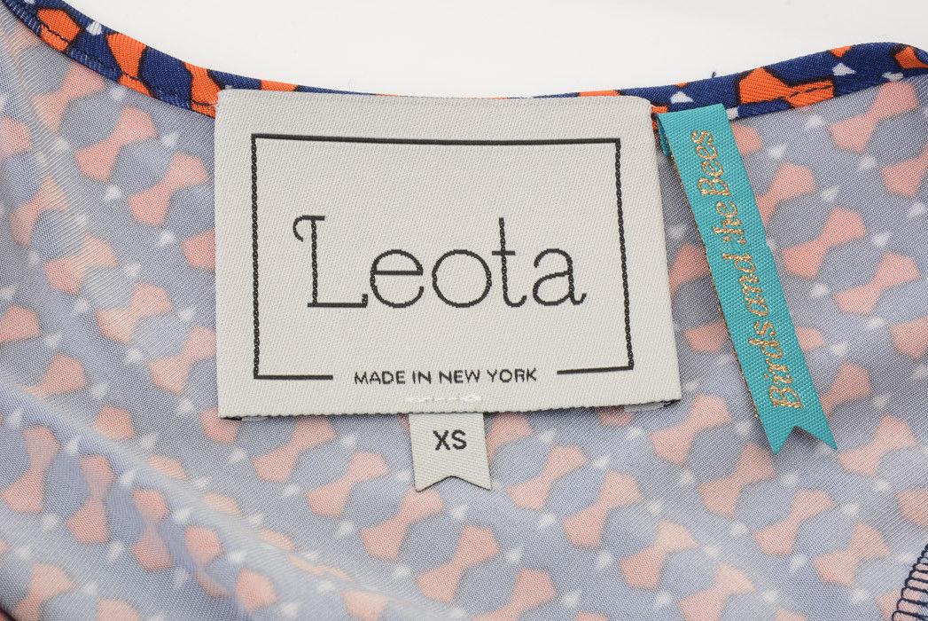 3bd6c5f656e1e Leota Maternity navy orange XS 0 2 jersey print empire waist belt dress NEW  $158