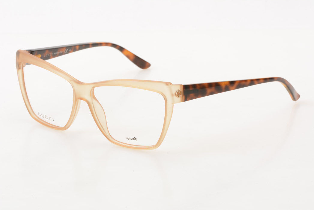e384bb1580 Gucci GG3195 light brown tortoise plastic square demo frame eyeglasses NEW   478