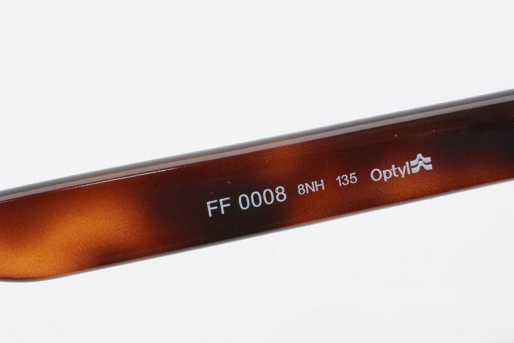 6518aa3da9b Fendi FF0008 brown plastic cat eye gold logo demo frame eyeglasses NEW  365