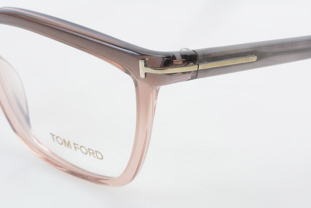 b9710a88be8 Tom Ford TF5267 gradient brown plastic square demo frame eyeglasses NEW  440