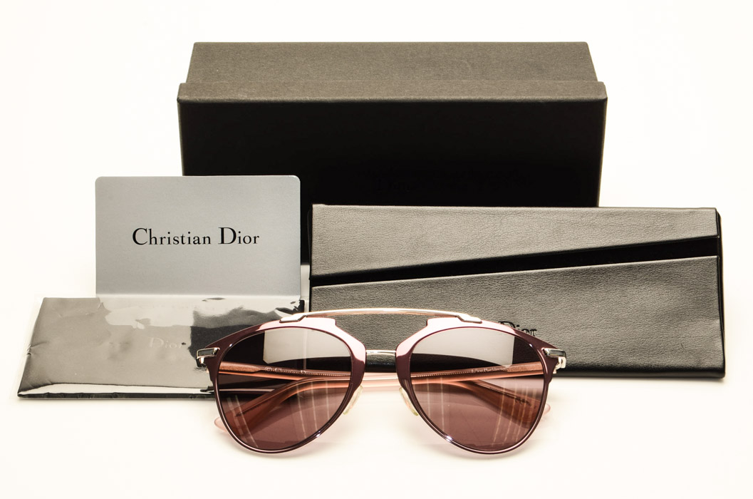 40b51e069b3 Details about Christian Dior Reflected 1RQP7 purple multi aviator frame  sunglasses NEW  620