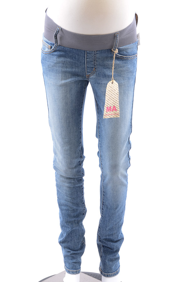 dec2cb1f0d6d6 Maternal America Maternity classic blue XS 0 2 denim skinny jean pant NEW  $125