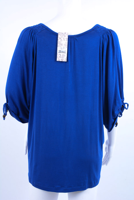 706ab3a96c03d Everly Grey Robyn Maternity sapphire blue L 12 14 tie smock tunic top NEW  $55