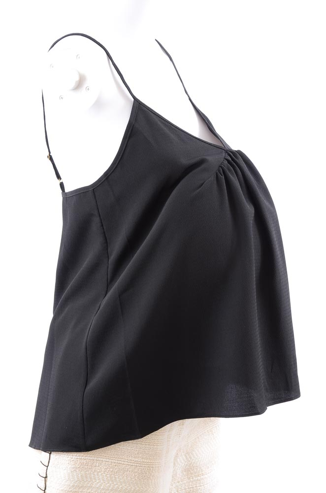 Hatch-Maternity-The-Lucy-sheer-ruched-pleated-crepe-camisole-tank-top-NEW-78 thumbnail 5
