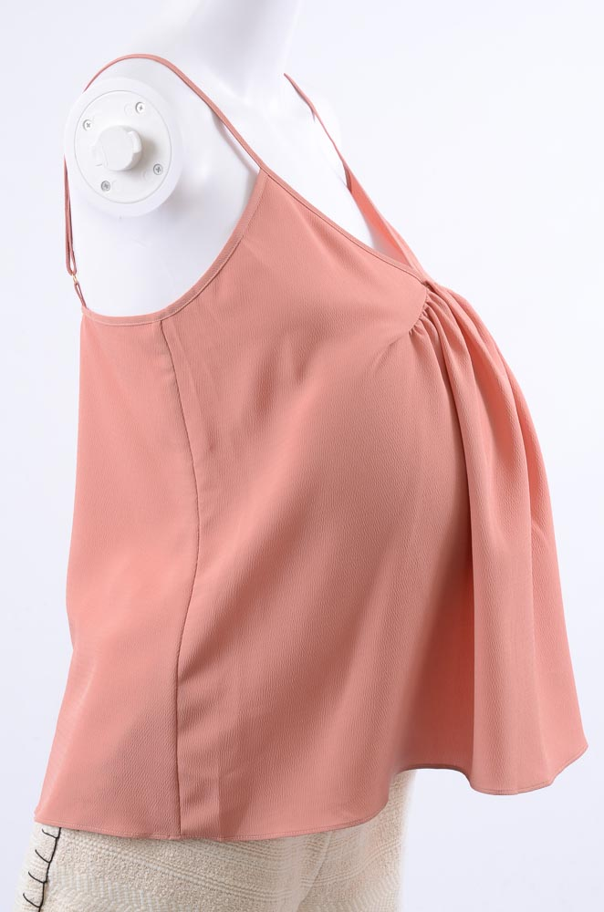 Hatch-Maternity-The-Lucy-sheer-ruched-pleated-crepe-camisole-tank-top-NEW-78 thumbnail 10