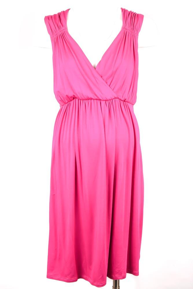 5ead19024b198 Maternal America Maternity Vanessa magenta M 8 10 nursing a-line dress NEW  $146