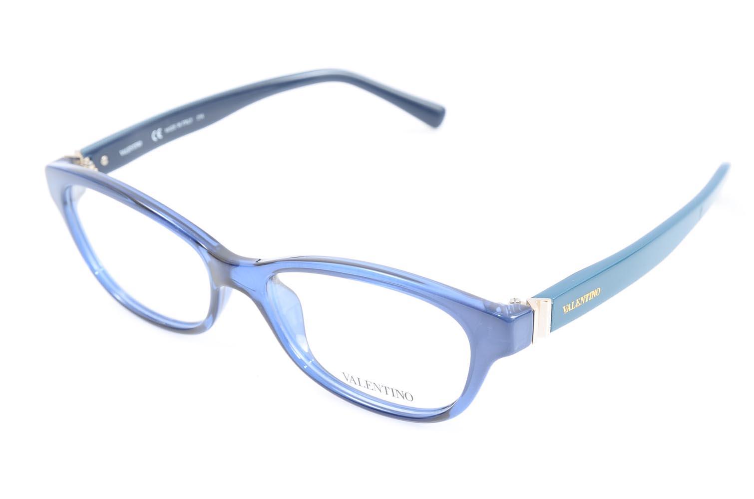 777f2bab4c Valentino V2681 two tone blue plastic oval demo optical eyeglass frame NEW   280