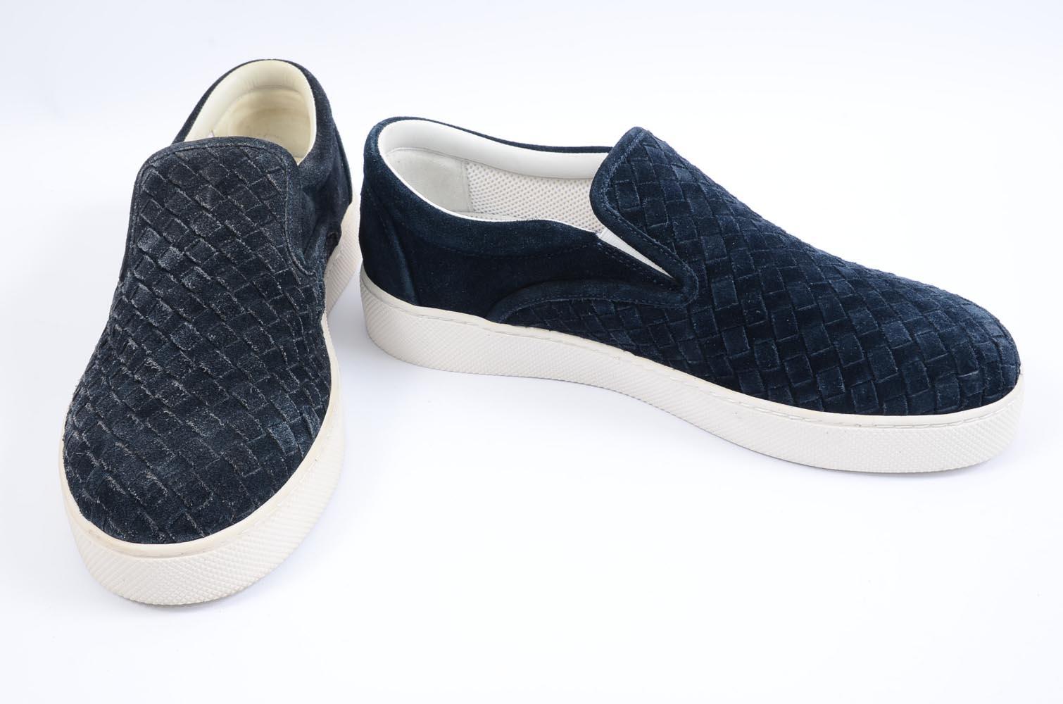 2f90579f Bottega Veneta Dodger dark navy 7 40 intrecciato butterfly sneaker shoe NEW  $640