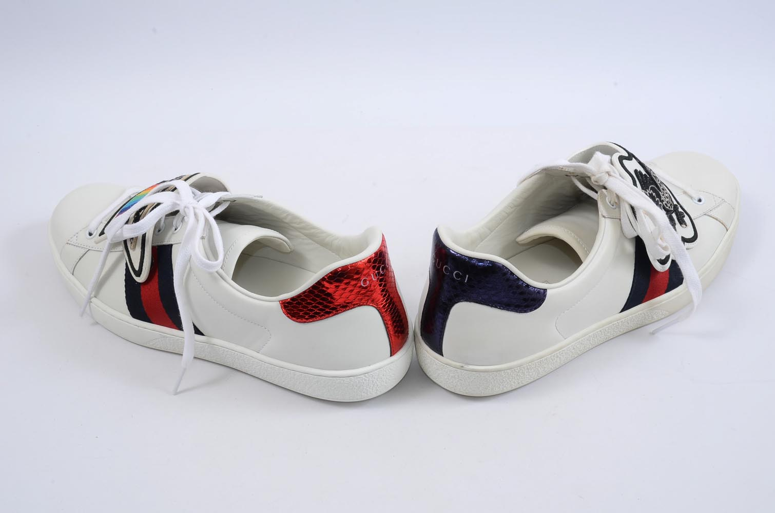 551feb451e1 Gucci Ace white multi 12 web stripe UFO dragon patch sneaker UK11 shoe  730