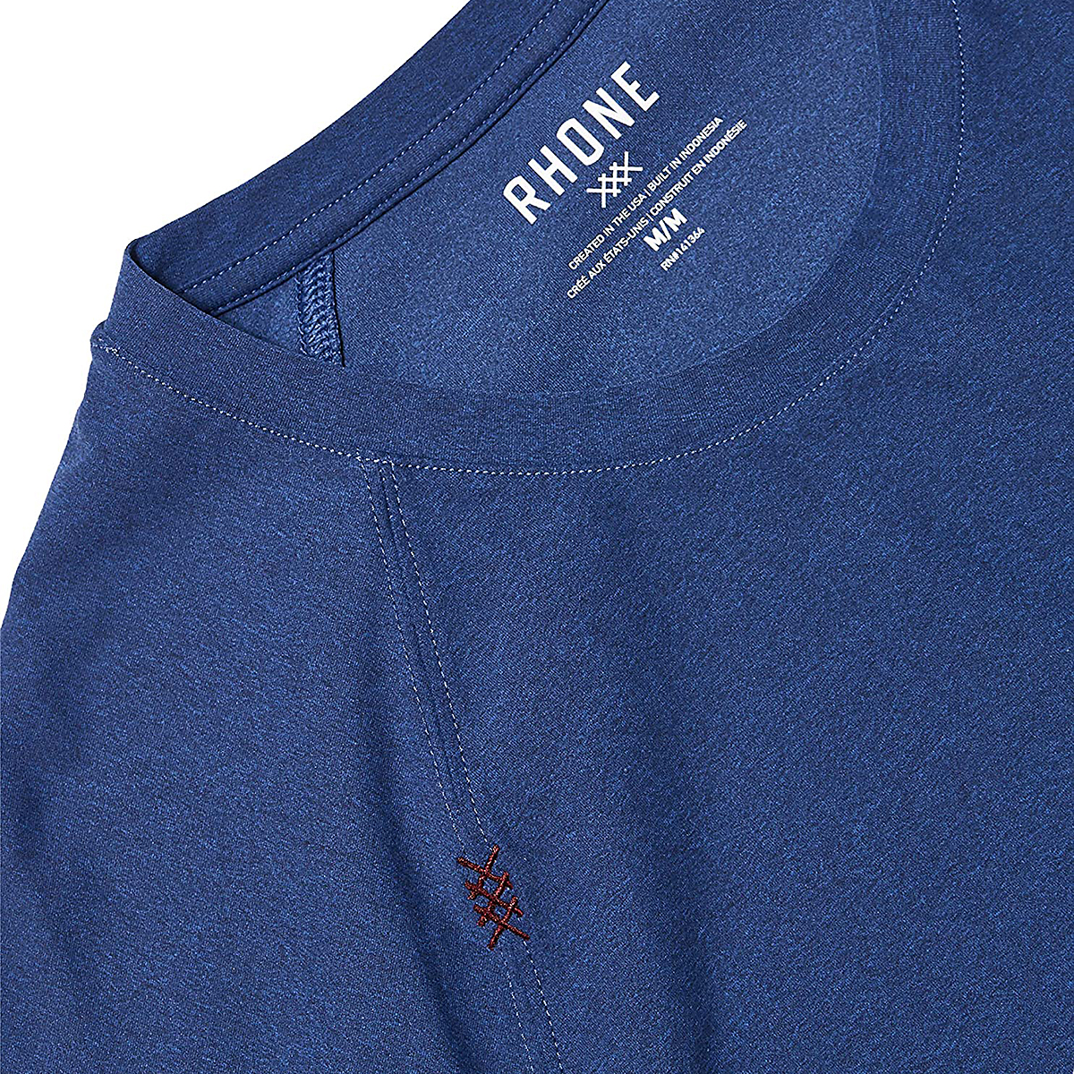 Men's Rhone Reign Short Sleeve  - Color: Midnight Sapphire Heather - Size: S, Midnight Sapphire Heather, large, image 2