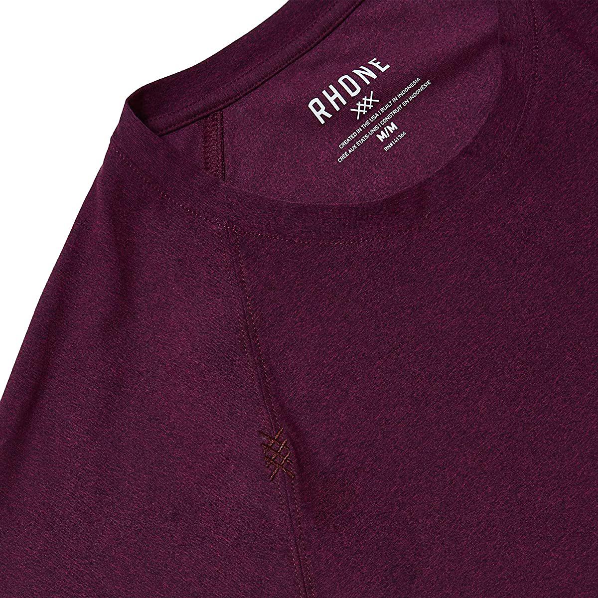 Men's Rhone Reign Short Sleeve - Color: Black/Fuschia - Size: S, Black/Fuschia, large, image 2