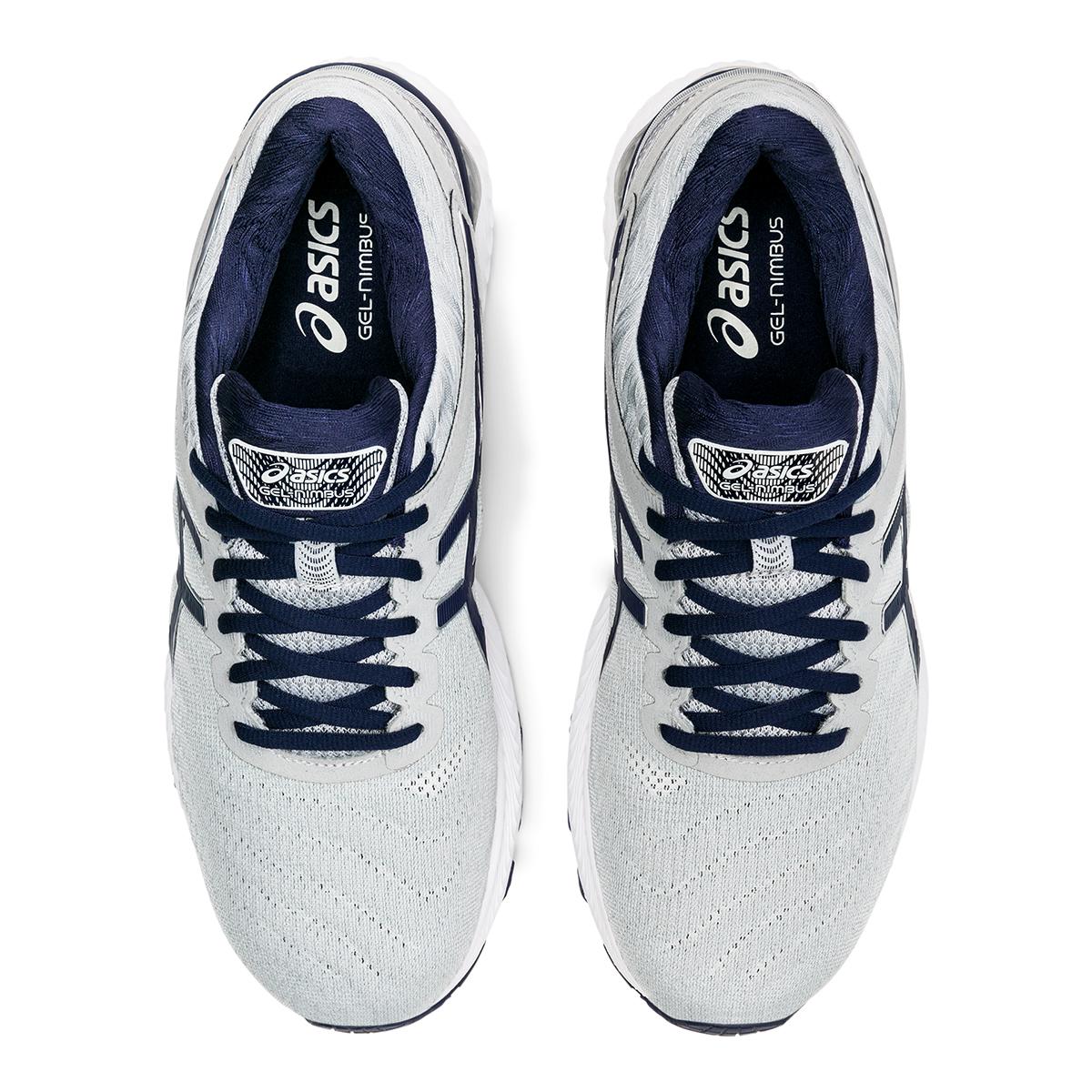 Men's Asics Gel-Nimbus 22 Running Shoe - Color: Piedmont Grey/Peacoat - Size: 6 - Width: Regular, Piedmont Grey/Peacoat, large, image 3