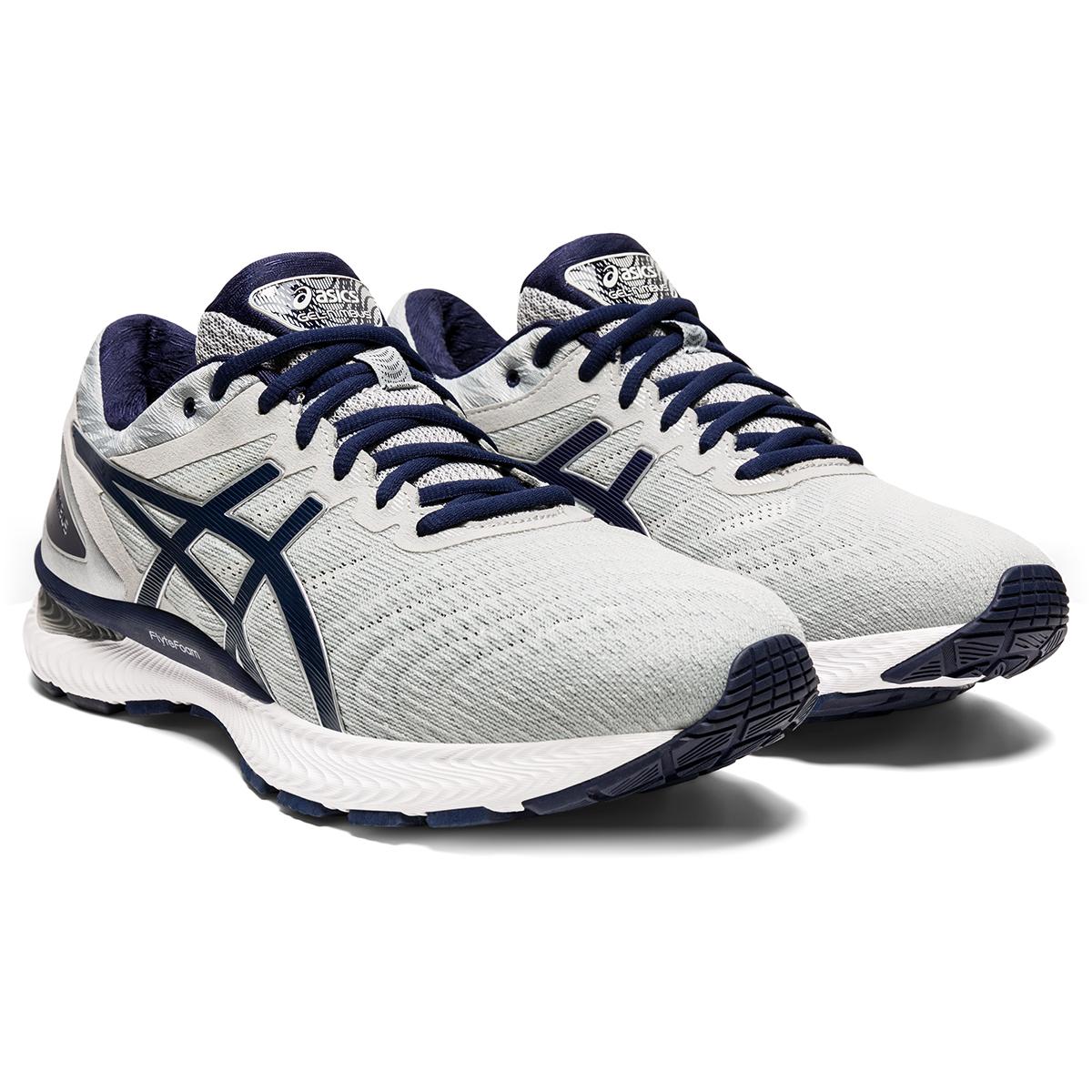 Men's Asics Gel-Nimbus 22 Running Shoe - Color: Piedmont Grey/Peacoat - Size: 6 - Width: Regular, Piedmont Grey/Peacoat, large, image 4