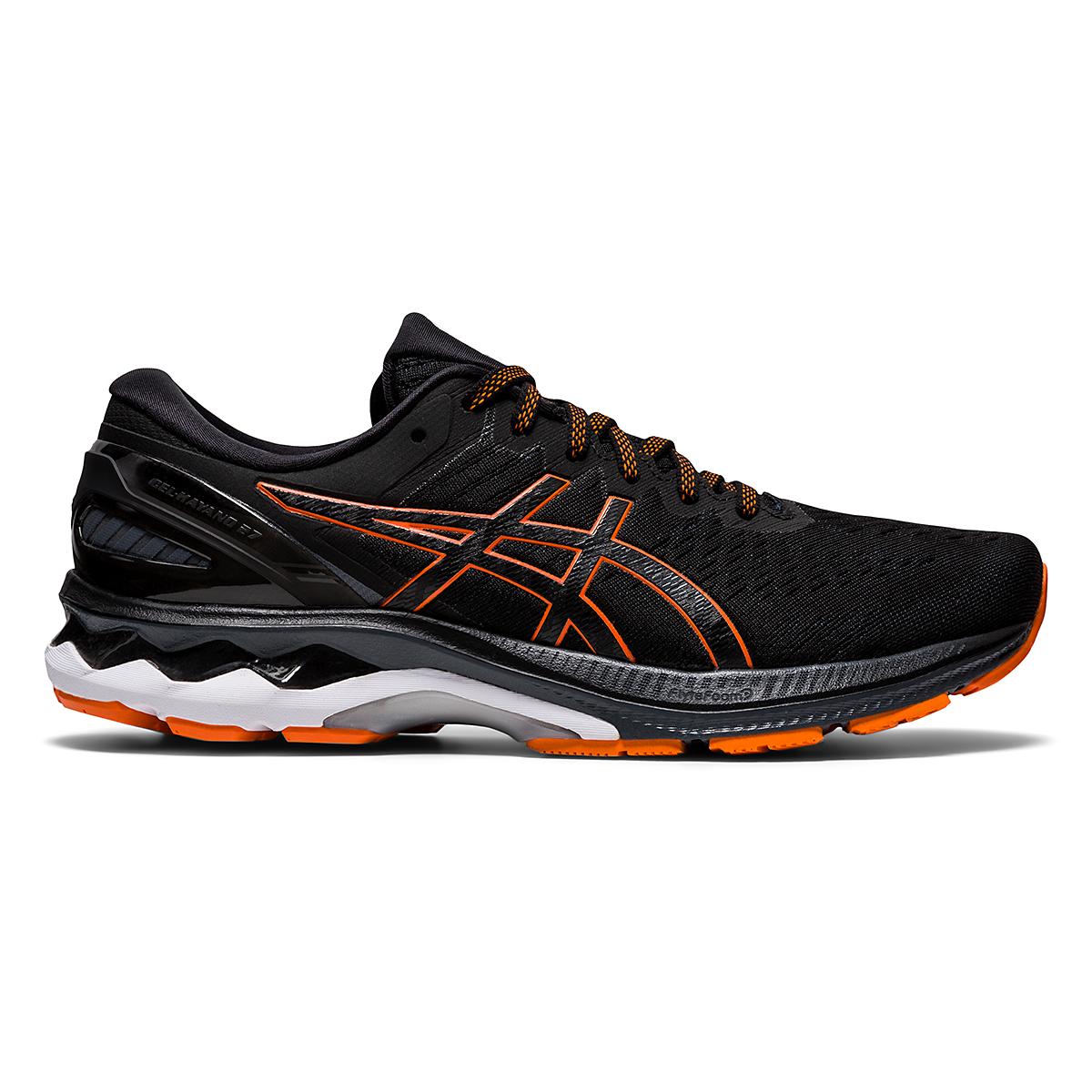Men's Asics GEL-Kayano 27 Running Shoe - Color: Black/Marigold - Size: 7.5 - Width: Regular, Black/Marigold, large, image 1