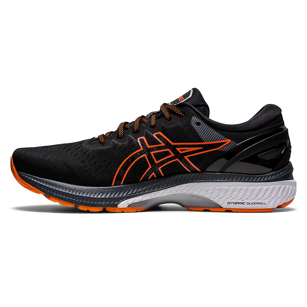 Men's Asics GEL-Kayano 27 Running Shoe - Color: Black/Marigold - Size: 7.5 - Width: Regular, Black/Marigold, large, image 2