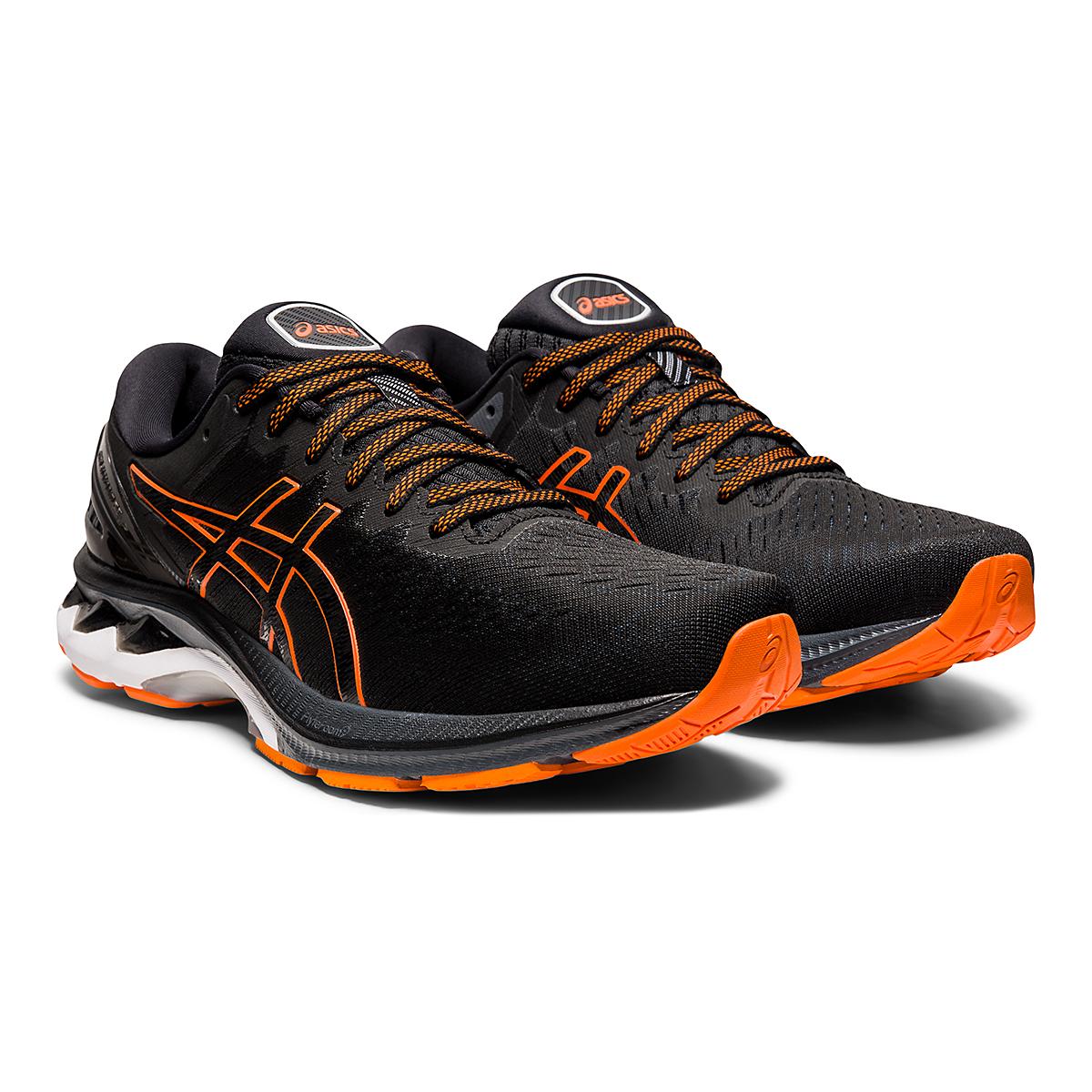 Men's Asics GEL-Kayano 27 Running Shoe - Color: Black/Marigold - Size: 7.5 - Width: Regular, Black/Marigold, large, image 3