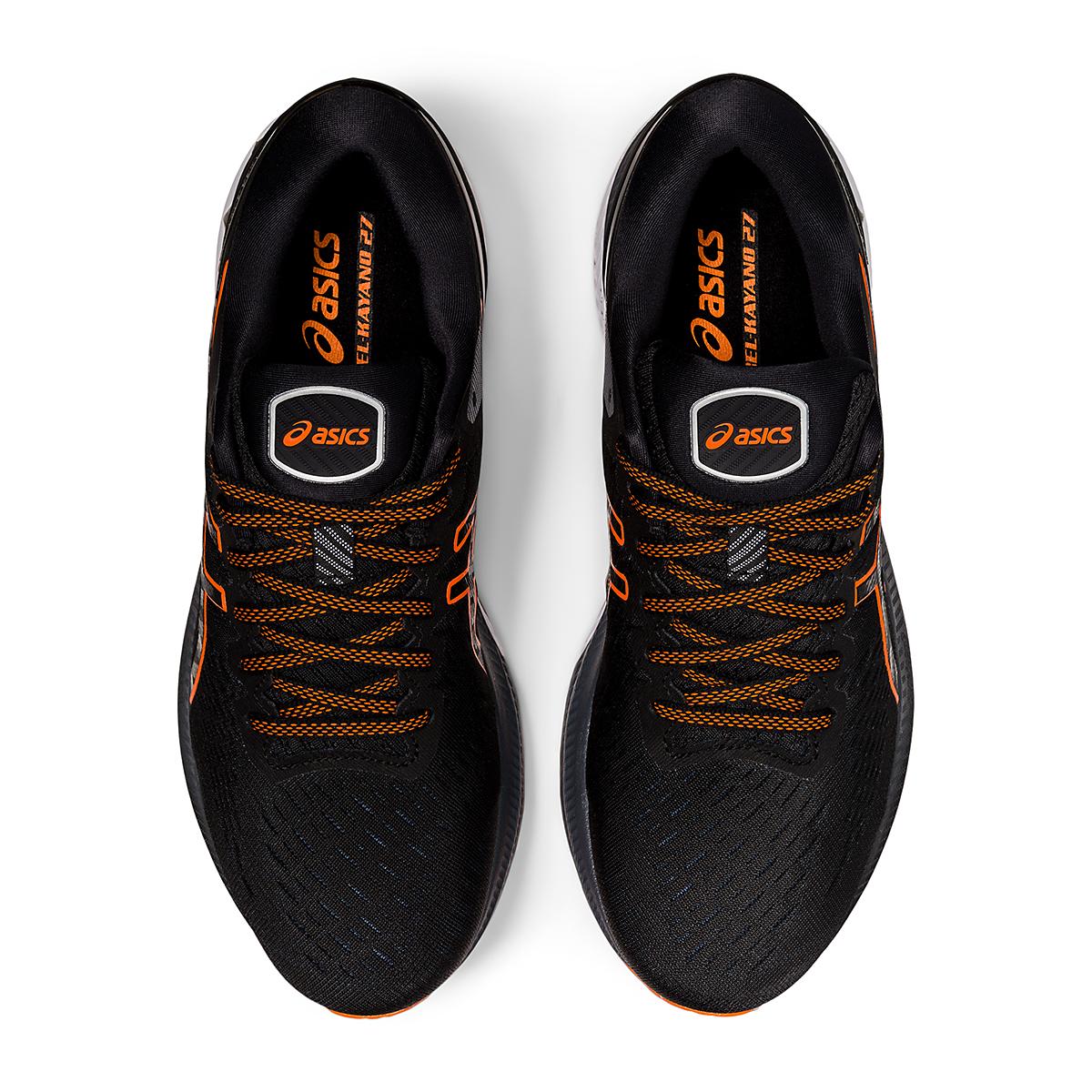 Men's Asics GEL-Kayano 27 Running Shoe - Color: Black/Marigold - Size: 7.5 - Width: Regular, Black/Marigold, large, image 5