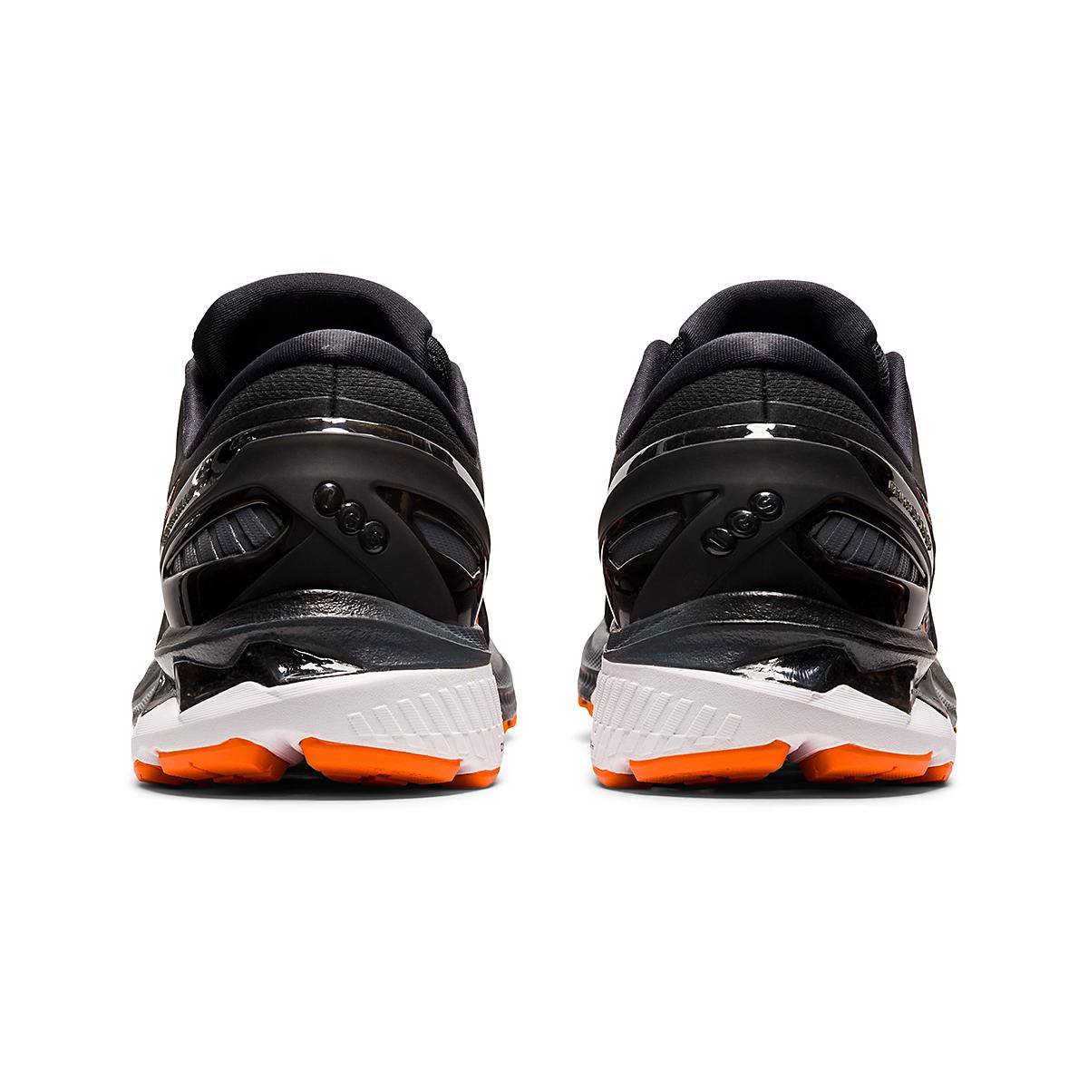 Men's Asics GEL-Kayano 27 Running Shoe - Color: Black/Marigold - Size: 7.5 - Width: Regular, Black/Marigold, large, image 6