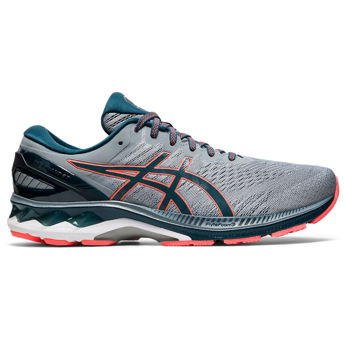 Men's Asics GEL-Kayano 27 Running Shoe - Color: Sheet Rock/Magn (Regular Width) - Size: 6, Sheet Rock/Magnetic Blue, large, image 1