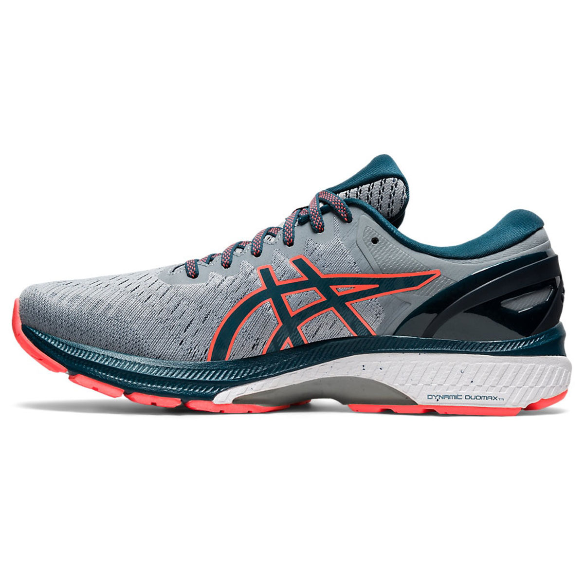 Men's Asics GEL-Kayano 27 Running Shoe - Color: Sheet Rock/Magn (Regular Width) - Size: 6, Sheet Rock/Magnetic Blue, large, image 2