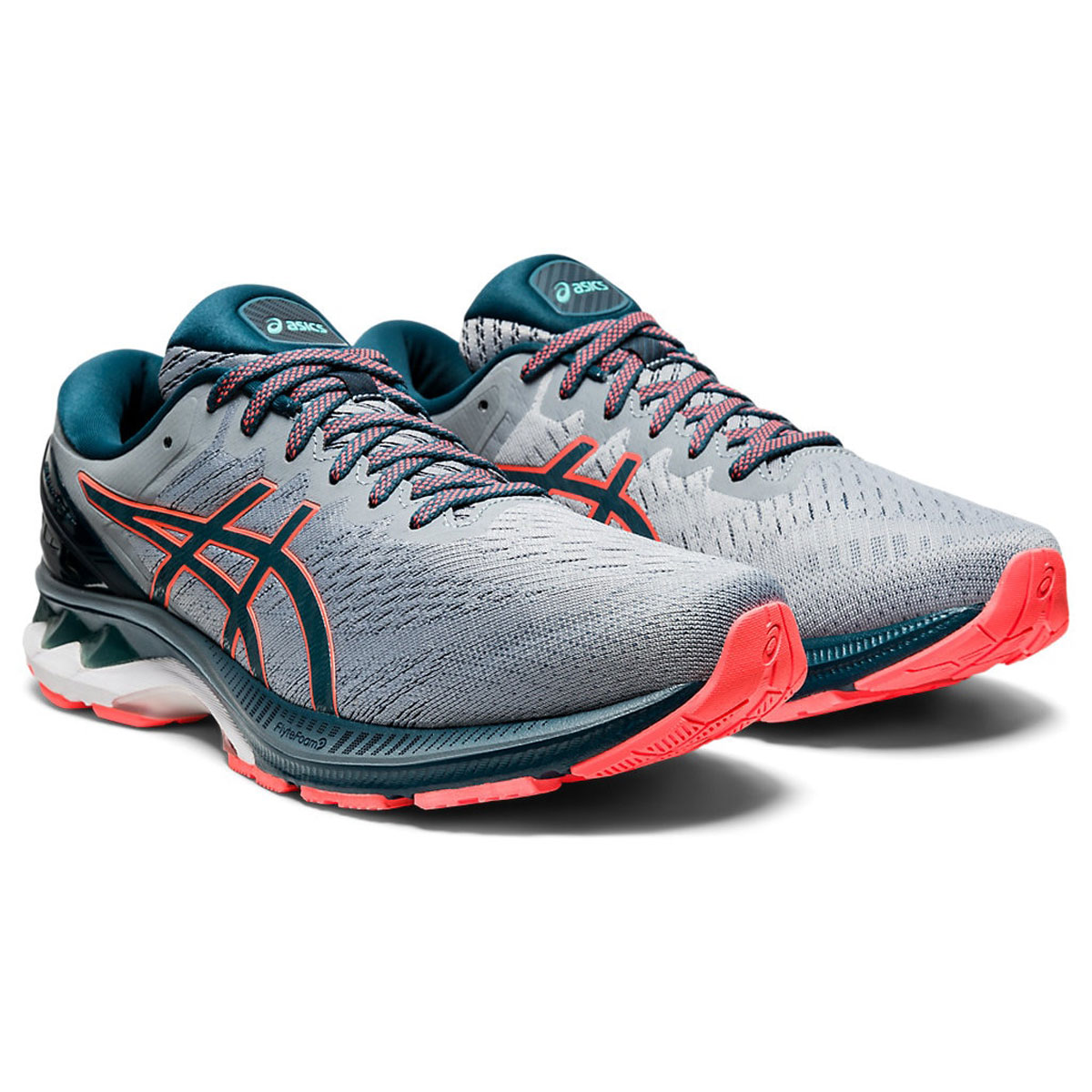 Men's Asics GEL-Kayano 27 Running Shoe - Color: Sheet Rock/Magn (Regular Width) - Size: 6, Sheet Rock/Magnetic Blue, large, image 3