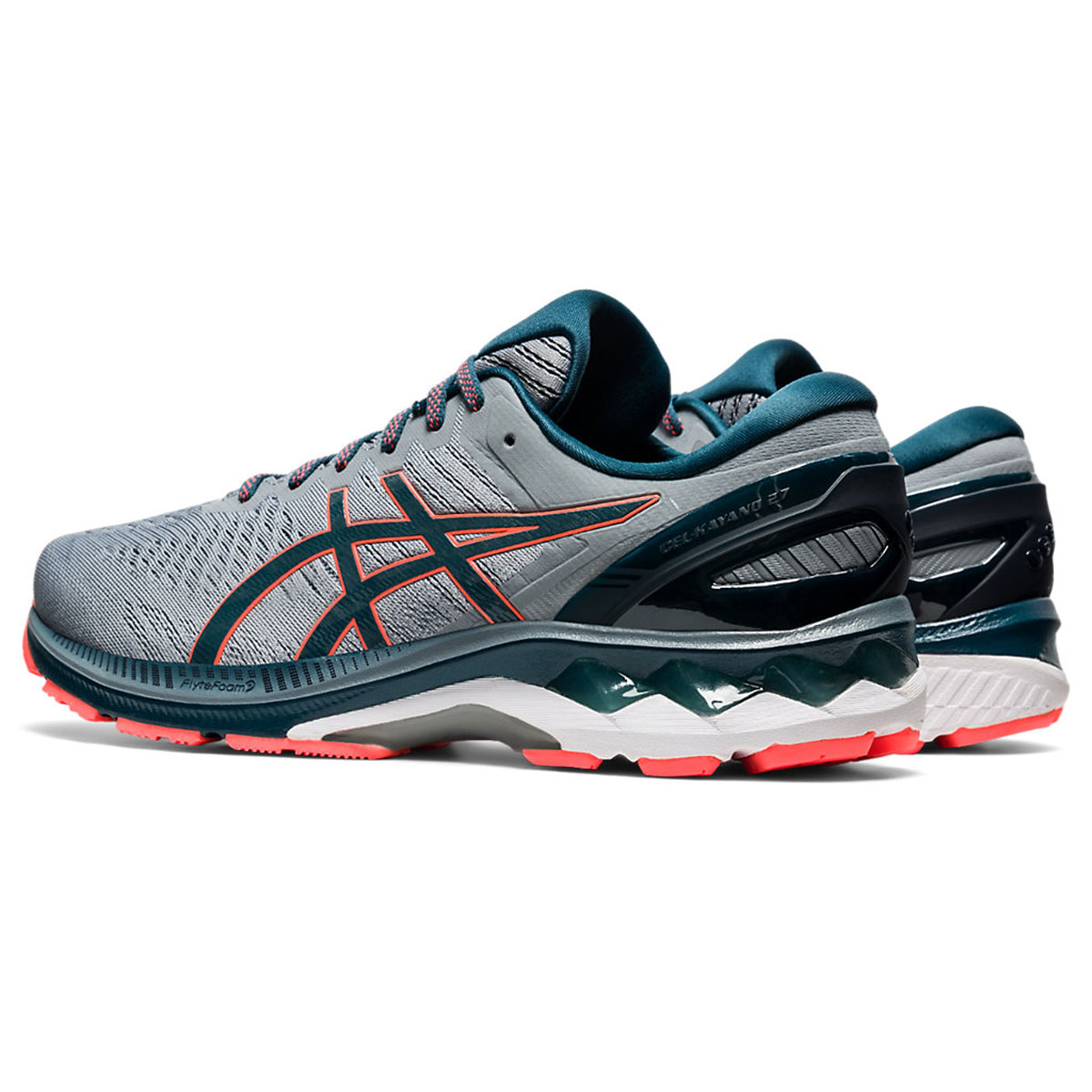 Men's Asics GEL-Kayano 27 Running Shoe - Color: Sheet Rock/Magn (Regular Width) - Size: 6, Sheet Rock/Magnetic Blue, large, image 4