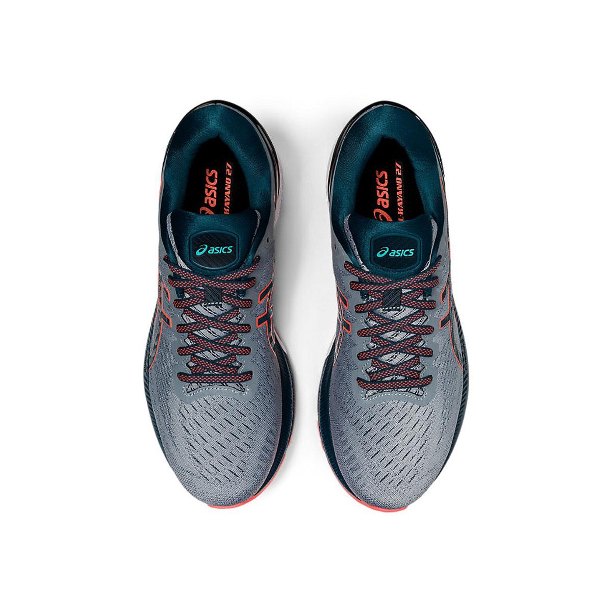 Men's Asics GEL-Kayano 27 Running Shoe - Color: Sheet Rock/Magn (Regular Width) - Size: 6, Sheet Rock/Magnetic Blue, large, image 6