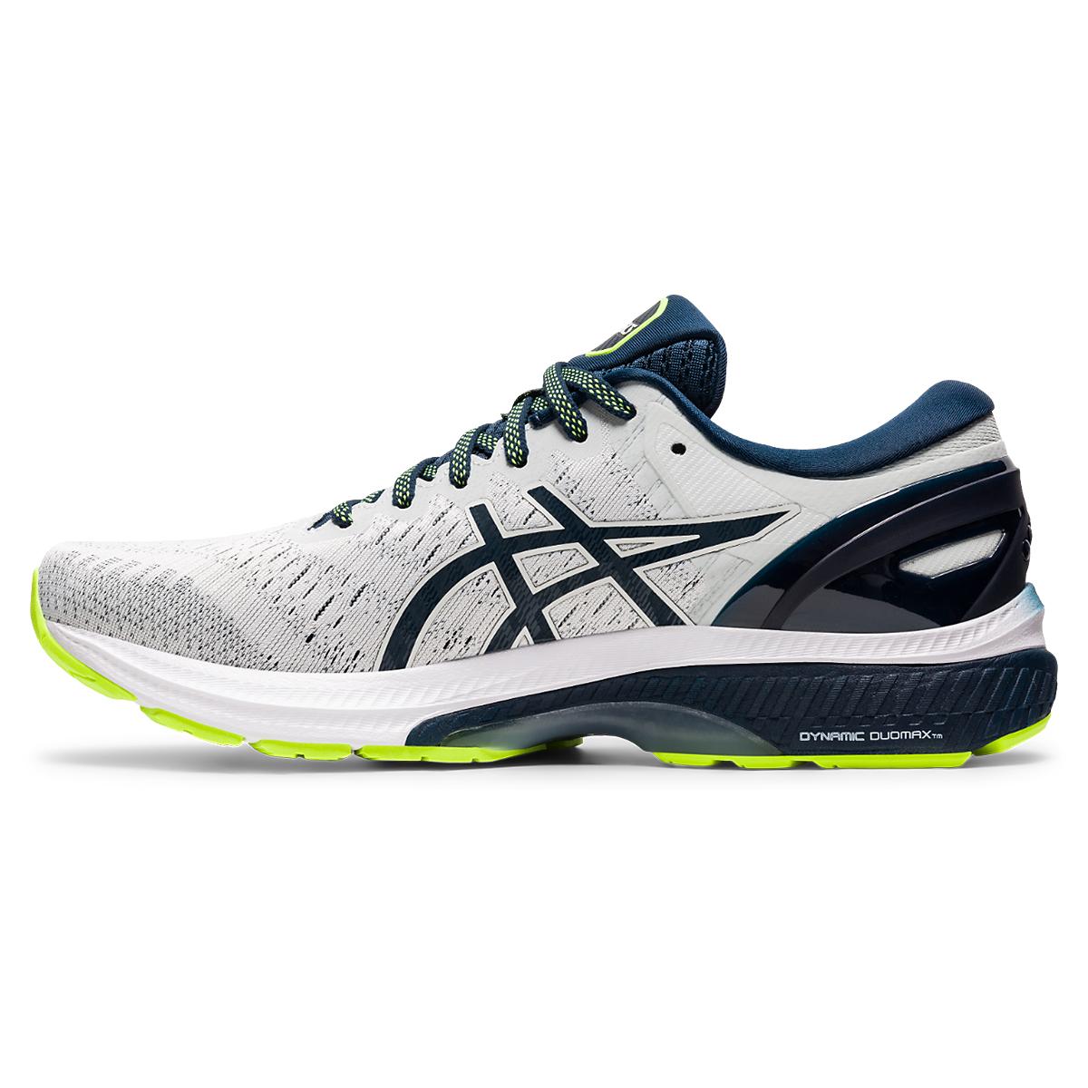 Men's Asics Gel-Kayano 27 Running Shoe - Color: Grey/Green/Blue - Size: 7 - Width: Regular, Grey/Green/Blue, large, image 2
