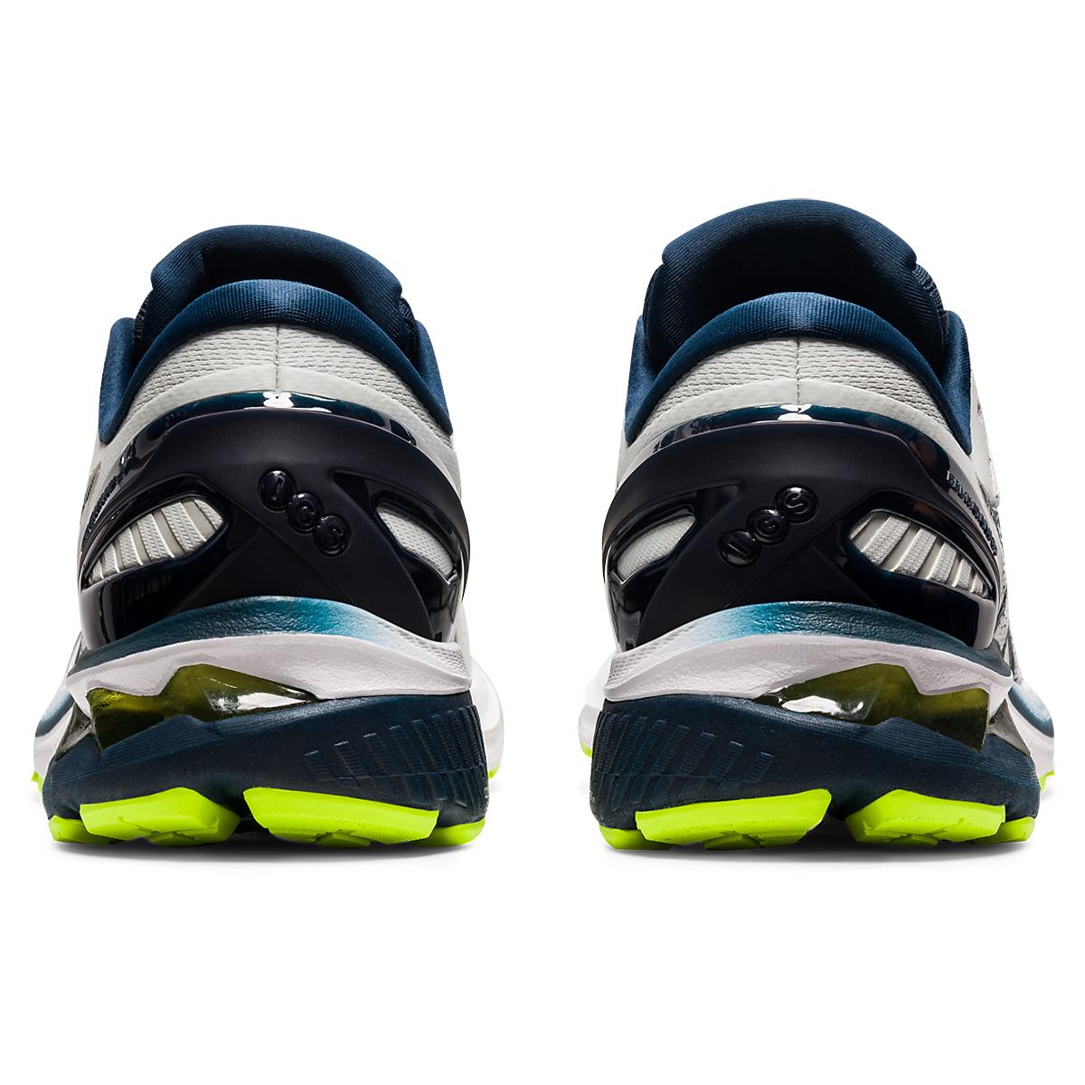 Men's Asics Gel-Kayano 27 Running Shoe - Color: Grey/Green/Blue - Size: 7 - Width: Regular, Grey/Green/Blue, large, image 5