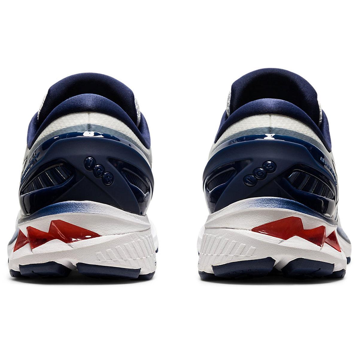 Men's Asics GEL-Kayano 27 Running Shoe - Color: White/Peacoat (Regular Width) - Size: 6, White/Peacoat, large, image 5