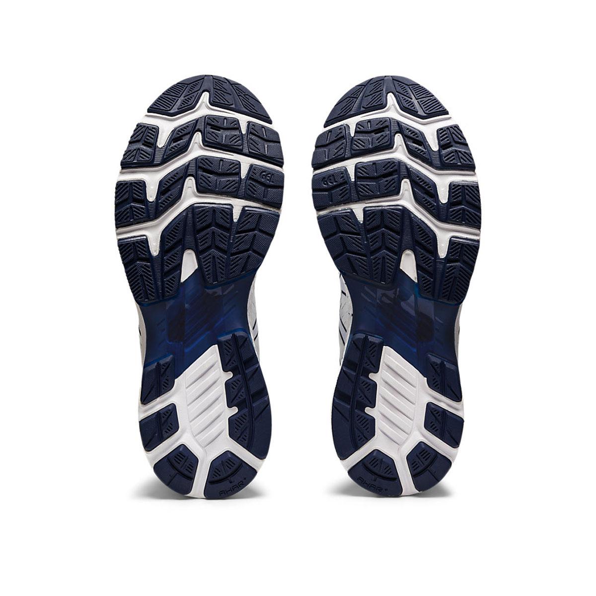 Men's Asics GEL-Kayano 27 Running Shoe - Color: White/Peacoat (Regular Width) - Size: 6, White/Peacoat, large, image 7