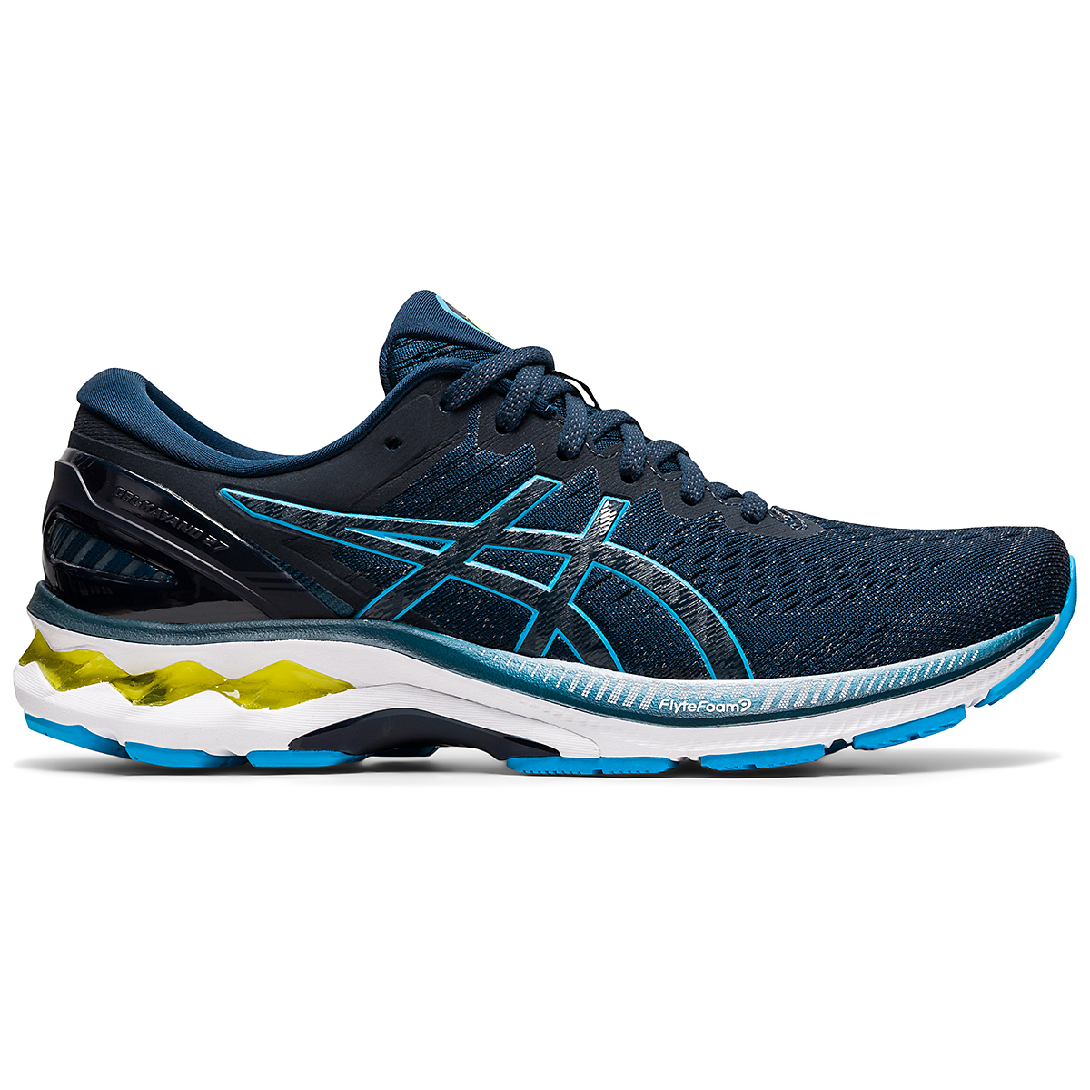 Men's Asics GEL-Kayano 27 Running Shoe - Color: French Blue/Dig - Size: 7.5 - Width: Regular, French Blue/Dig, large, image 1