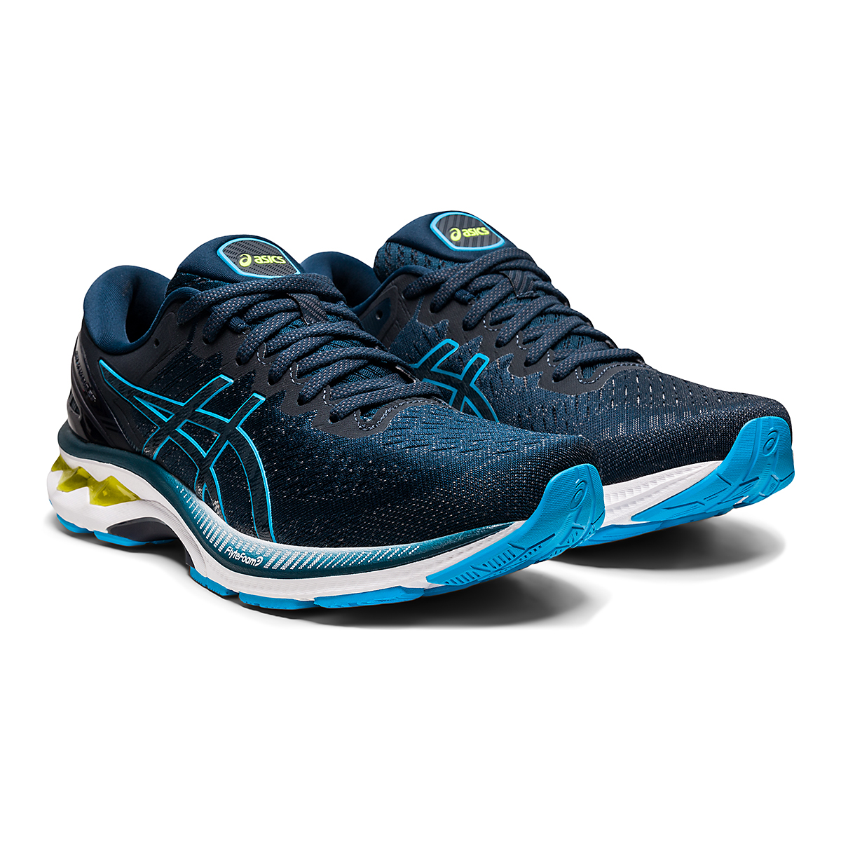 Men's Asics GEL-Kayano 27 Running Shoe - Color: French Blue/Dig - Size: 7.5 - Width: Regular, French Blue/Dig, large, image 3