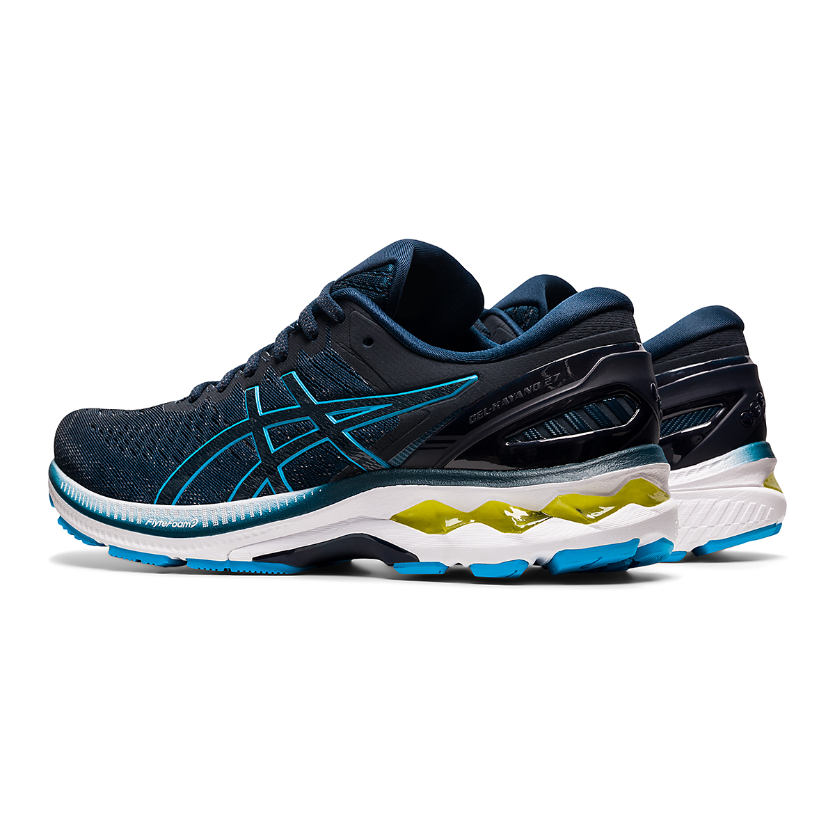 Men's Asics GEL-Kayano 27 Running Shoe - Color: French Blue/Dig - Size: 7.5 - Width: Regular, French Blue/Dig, large, image 4