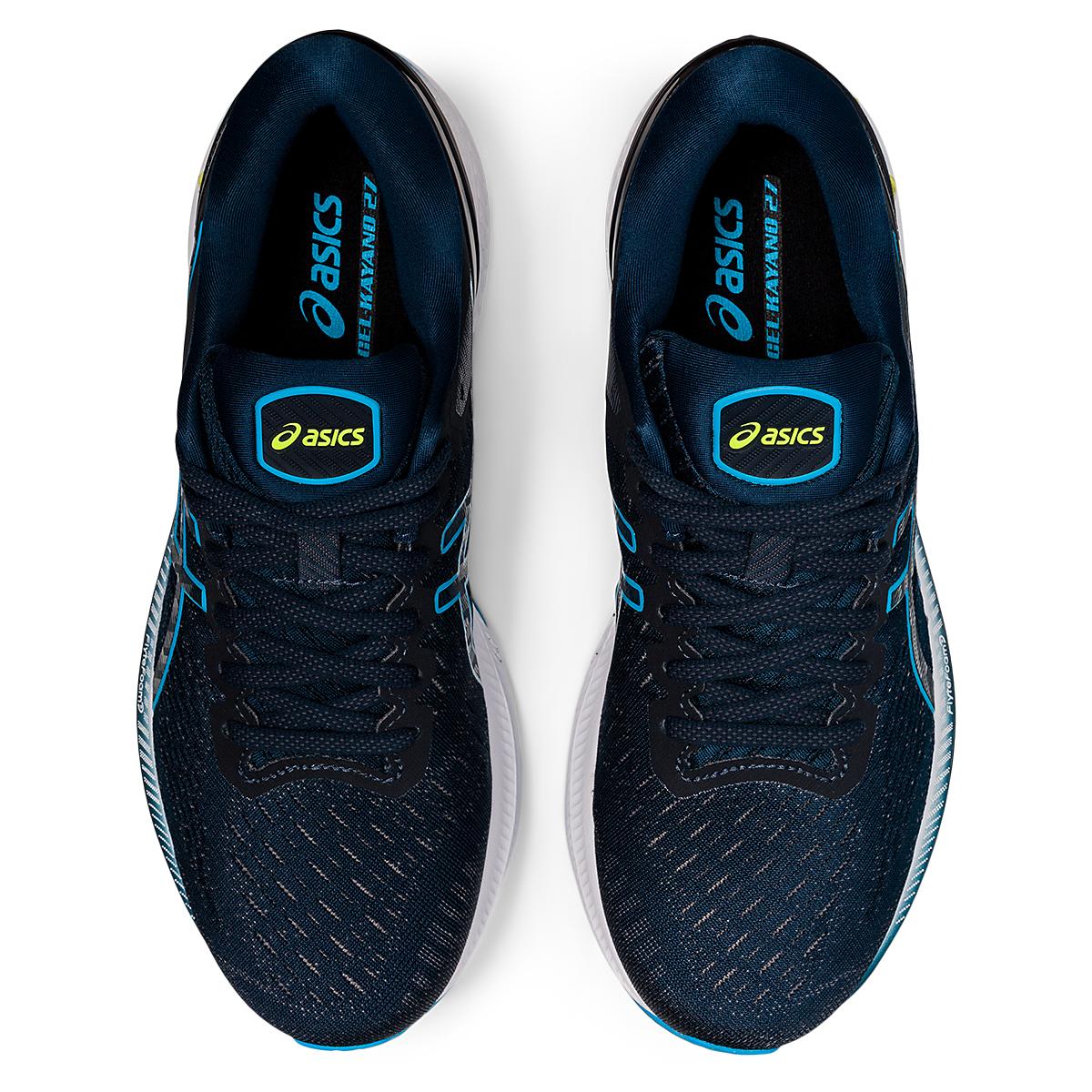 Men's Asics GEL-Kayano 27 Running Shoe - Color: French Blue/Dig - Size: 7.5 - Width: Regular, French Blue/Dig, large, image 5