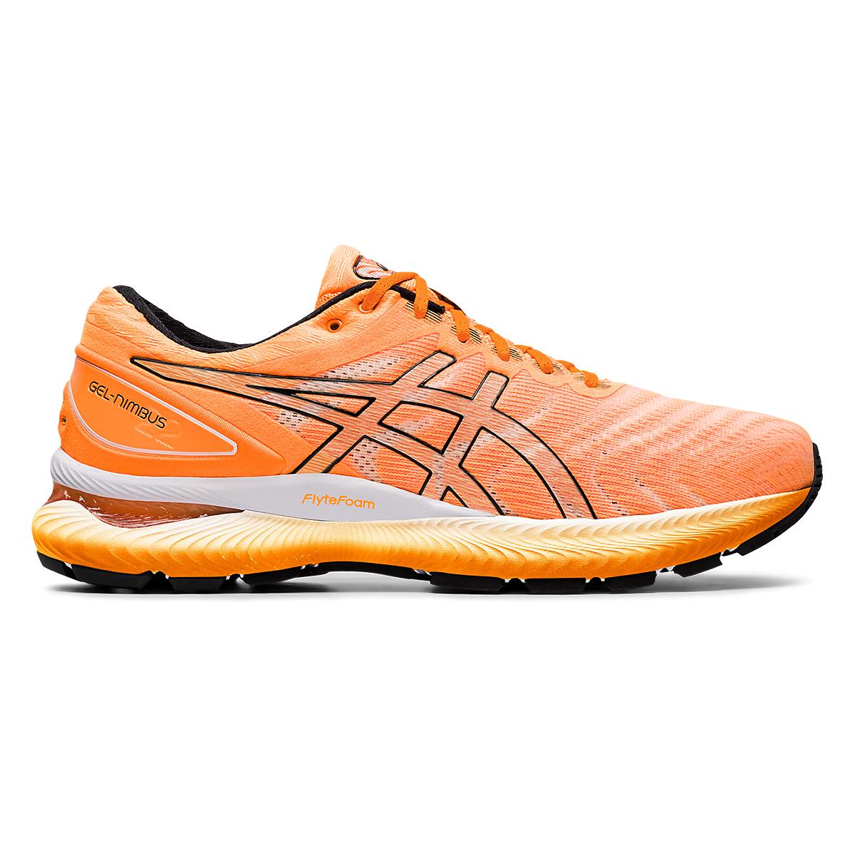 Men's Asics GEL-Nimbus 22 Modern Tokyo Running Shoe - Color: Orange Pop/Black - Size: 6 - Width: Regular, Orange Pop/Black, large, image 1