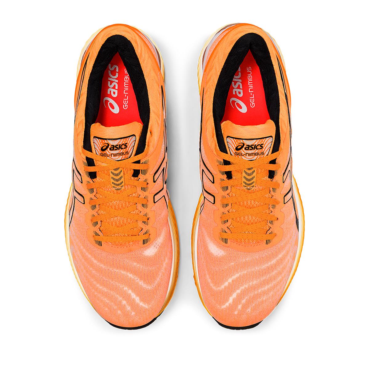 Men's Asics GEL-Nimbus 22 Modern Tokyo Running Shoe - Color: Orange Pop/Black - Size: 6 - Width: Regular, Orange Pop/Black, large, image 3