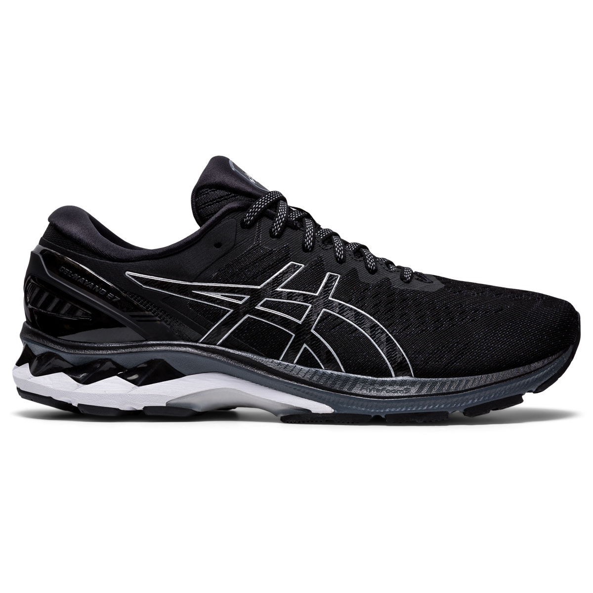Men's Asics GEL-Kayano 27 Running Shoe - Color: Black/Pure Silv (Regular Width) - Size: 6, Black/Pure Silver, large, image 1
