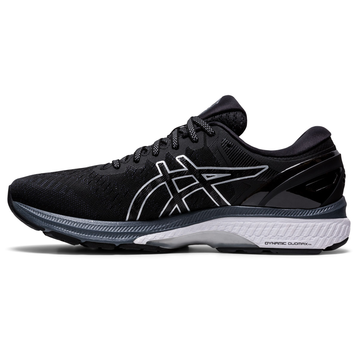 Men's Asics GEL-Kayano 27 Running Shoe - Color: Black/Pure Silv (Regular Width) - Size: 6, Black/Pure Silver, large, image 2